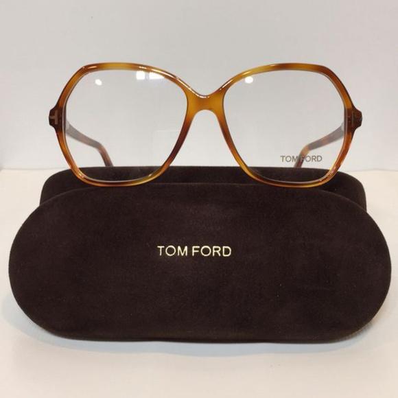 616fdae00500 New Tom Ford 5300 053 Light Havana Big plastic Eye